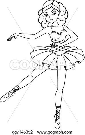 Ballerine clipart coloring #11