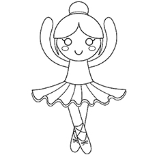 Ballerine clipart coloring #4
