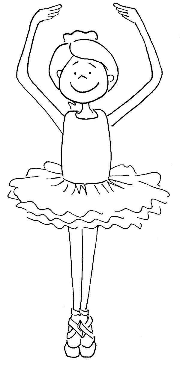 Ballerine clipart coloring #6