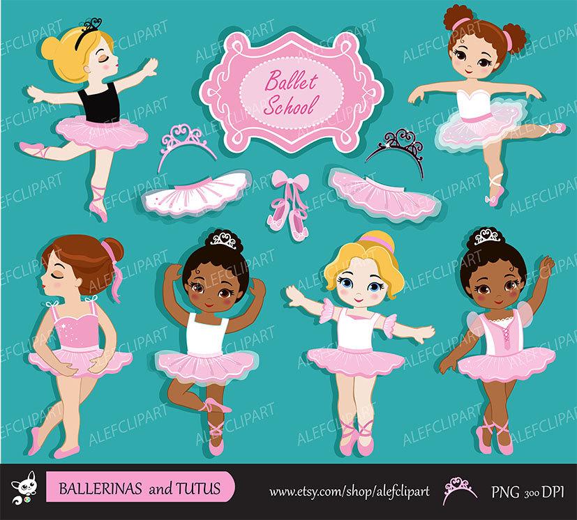Ballerine clipart cute person Clipart Ballerina digital  This