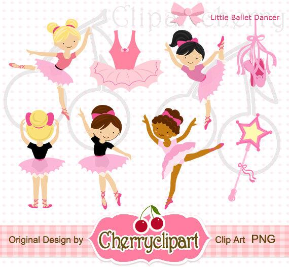 Cards clipart paper Little Commercial Ballet digital digital