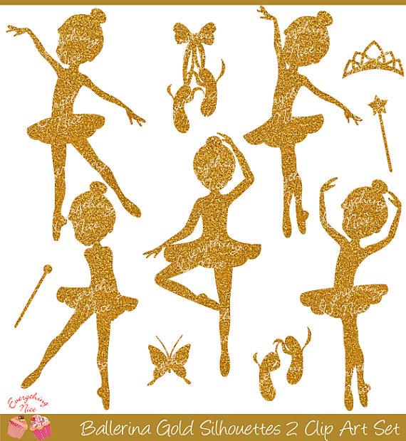 Ballerine clipart gold 2 Ballerina Set Set silhouette