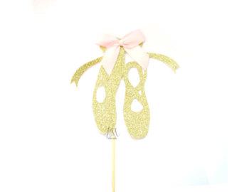 Ballerine clipart gold Ballerina shoe Birthday birthday gold