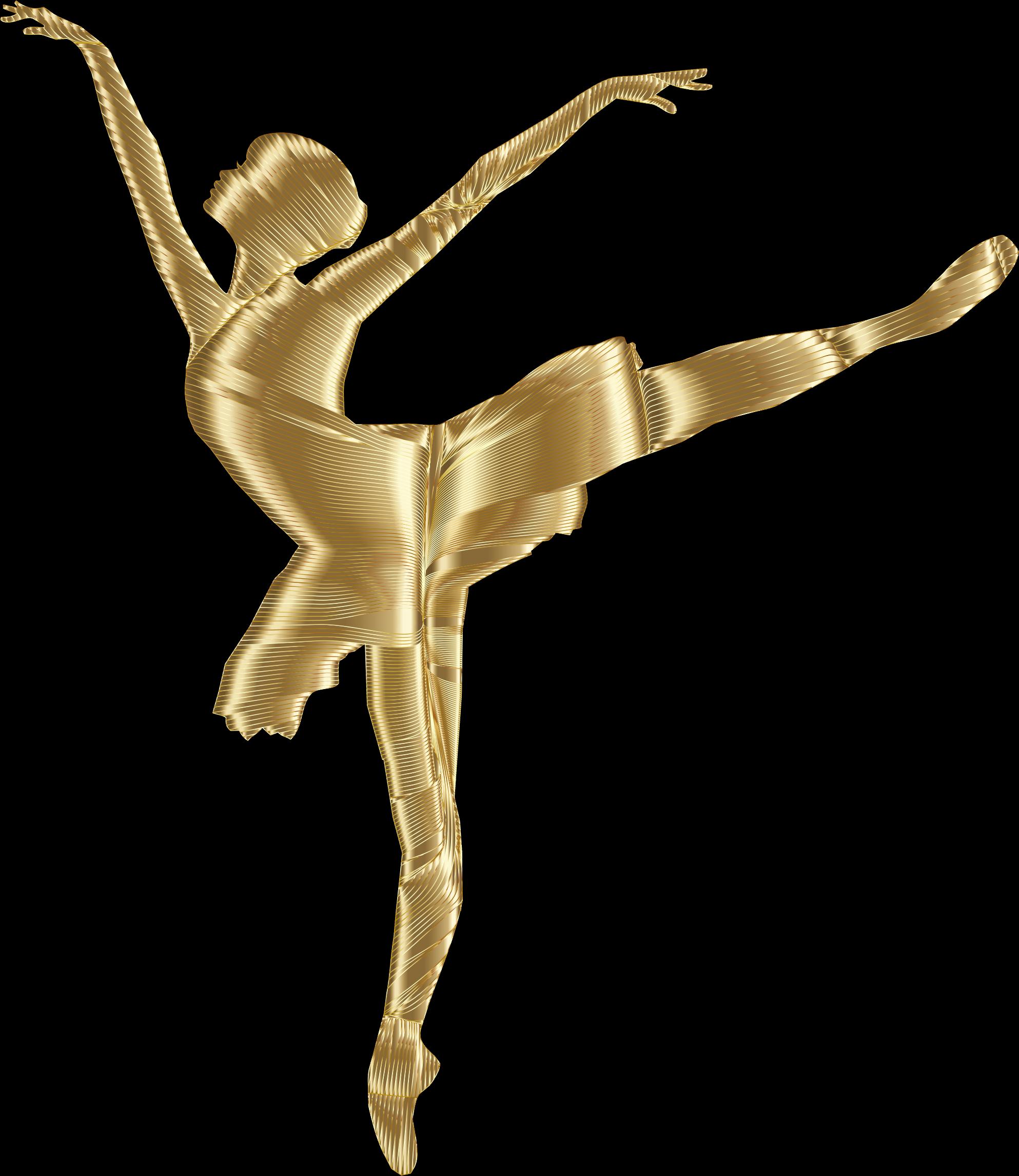 Ballerine clipart gold Ballerina background Ballerina Silhouette collection
