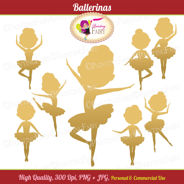 Ballerine clipart gold Digital Clip Cliparts  Silhouette