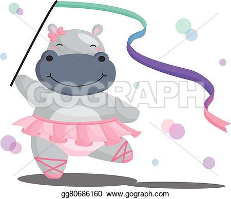 Ballerina clipart hippo #6