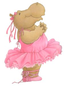 Ballerina clipart hippo #7