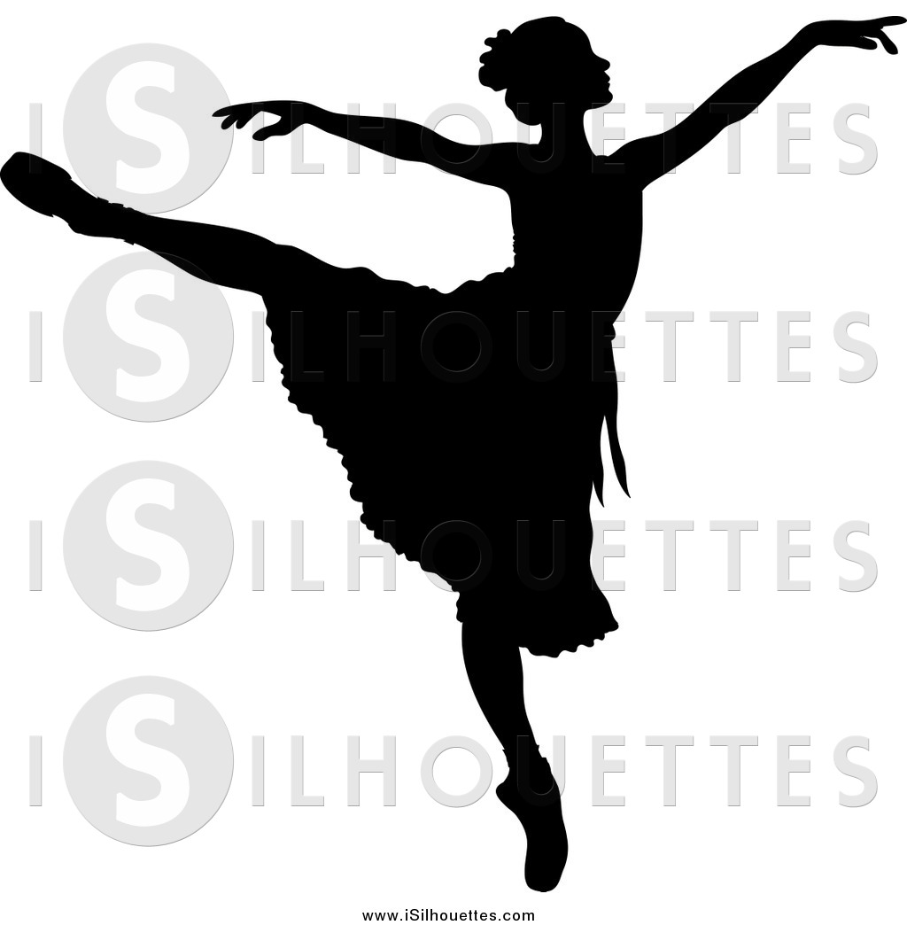 Ballerine clipart leg Dancing  Her Silhouetted with