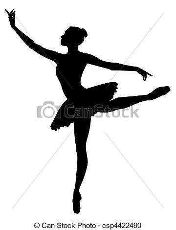 Abstract of Clipart Vector Ballerina