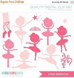 Ballerine clipart princess ballerina Silhouette princess Pink and Art
