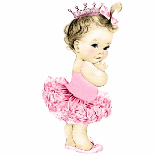 Ballerine clipart princess ballerina Daughter Pink Vintage Girl Baby