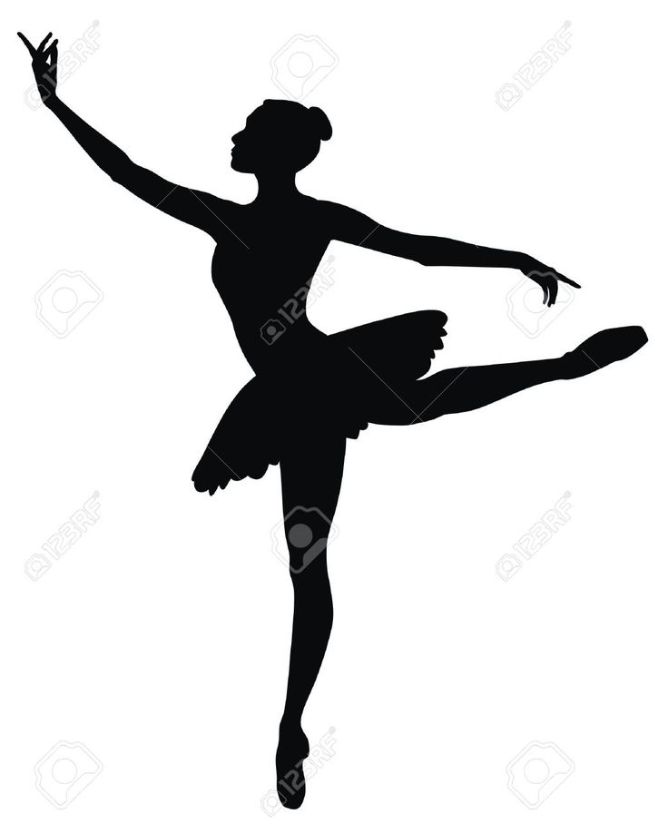 Ballerine clipart ballerina dress Ballerina for silhouette crafts Templates