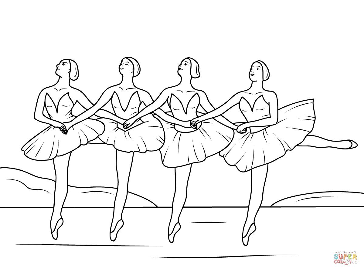 Ballerine clipart swan lake (1199×894) png coloring (1199×894)