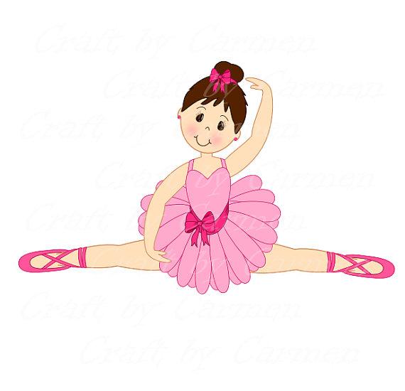 Ballet clipart ballerina Art by digital Ballerina art
