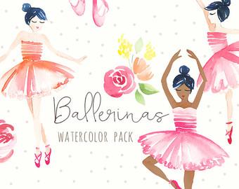Ballet clipart ballerina Etsy Ballet Watercolor Multiple Art