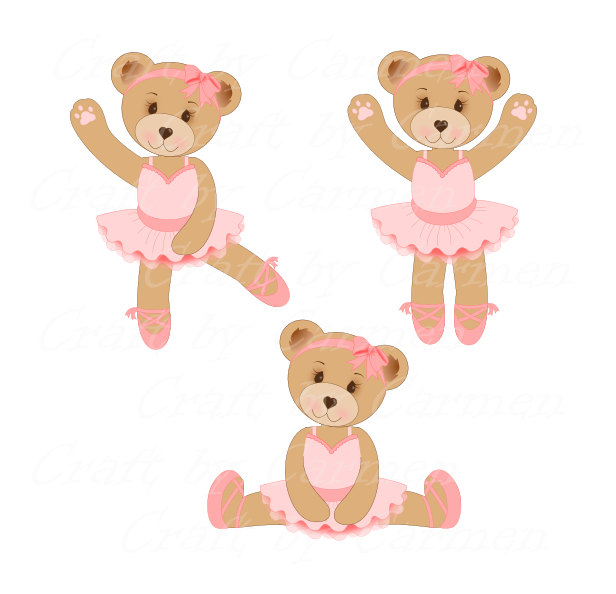Teddy clipart ballerina Ballet Ballet Cute etsy clipart