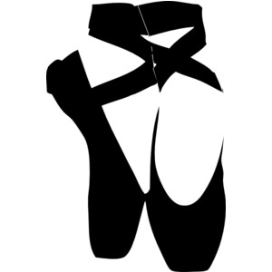 Ballet clipart black and white White Pointe White Clipart FreeClipart