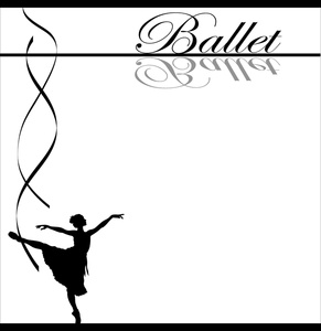 Ribbon clipart ballet #2