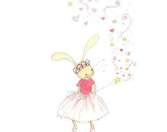 Ballet clipart bunny Girls Animal Etsy Rabbit Art