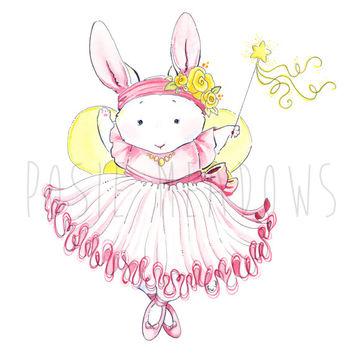 Ballet clipart bunny On Original Ballerina Print Bunny