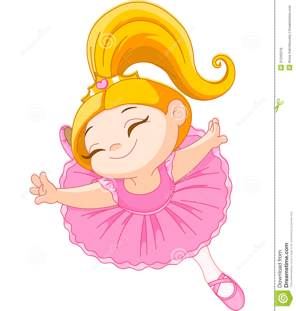 Ballet clipart cartoon Royalty ballerina Blond Free Ballerina