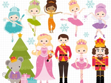 Christmas Princess Nutcracker / Clipart