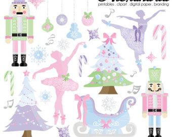 Ballet clipart christmas Personal Digital Clipart Plum Christmas