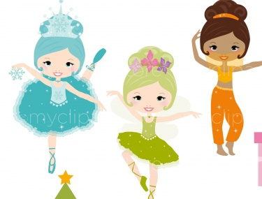 Ballet clipart christmas / Nutcracker / Christmas Clipart