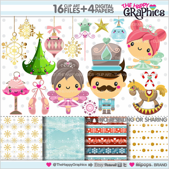 Ballet clipart christmas USE USE Graphics  COMMERCIAL