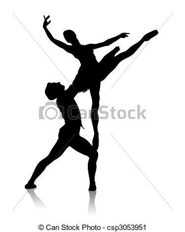 Ballet clipart couple Silhouette Clipart Black white