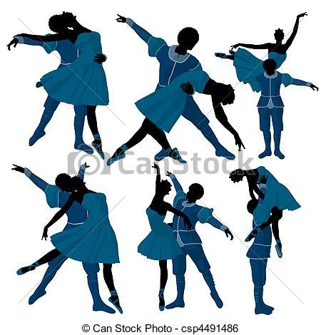 Ballet clipart couple Stock Couple csp4491486 Couple Illustration