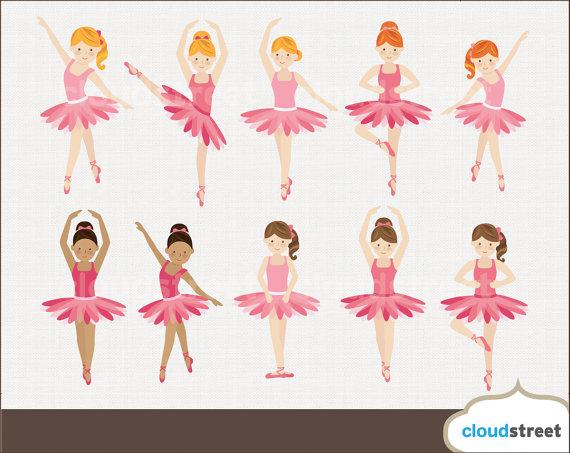 Ballet clipart cute ballerina Ballerina 20% clipart digital commercial