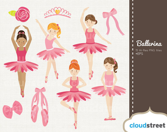 Ballet clipart cute ballerina 20% and Etsy commercial from