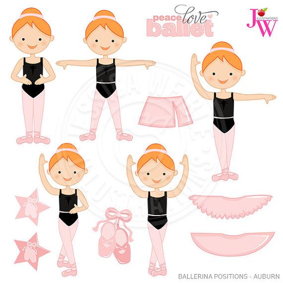 Ballerine clipart cute person Ballet Digital Positions Ballerina Cute