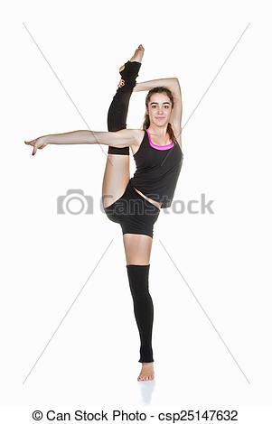 Ballet clipart flexibility Stretching Stock of flexible teen
