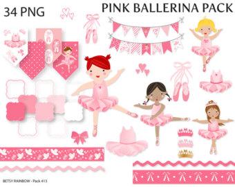 Ballet clipart frame Pink ballerina Ballet clipart clipart