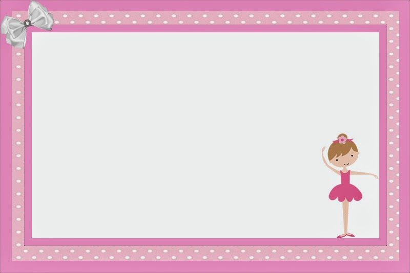 Ballet clipart frame PARTIES Free Printable Is Invitations