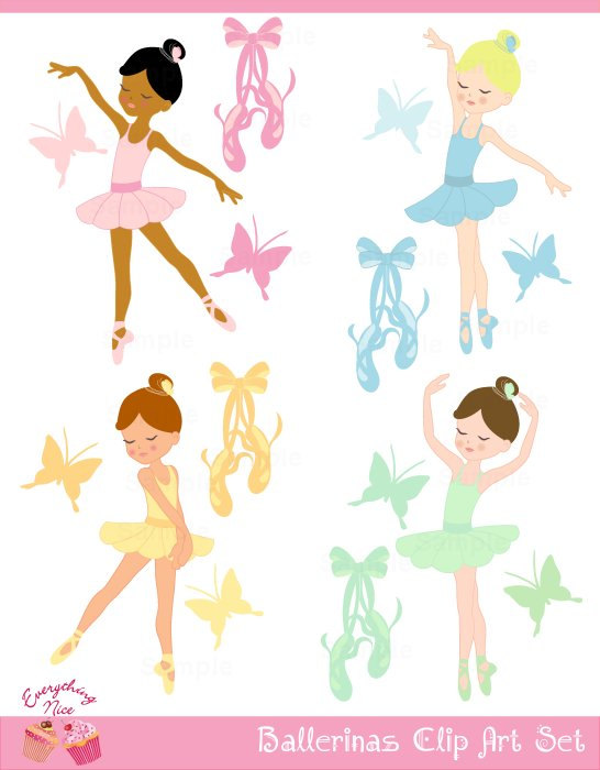 Ballet clipart kid graphic Cute Ballerinas Clip Etsy Ballerina