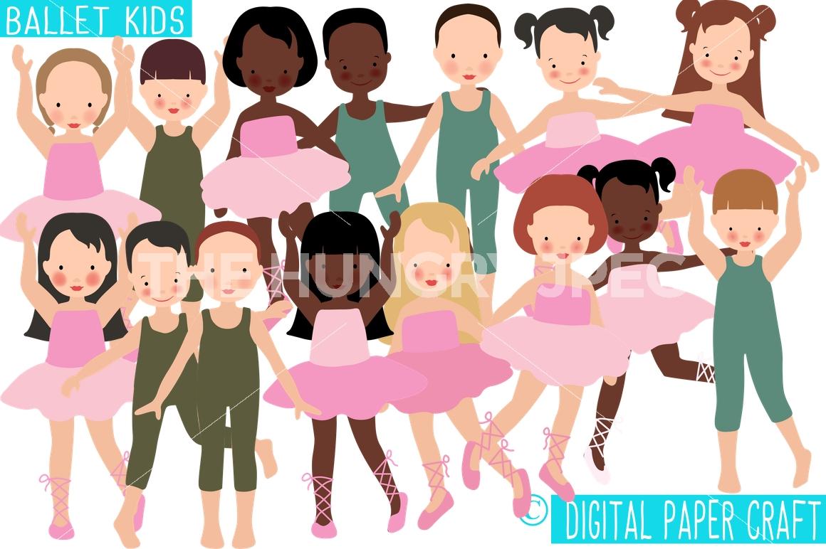 Ballet clipart kid graphic Dance Dance Ballet Digital Kids