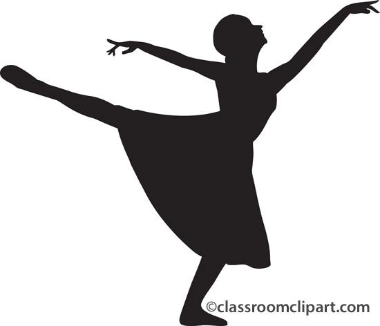Ballet clipart lyrical dancer Ballet Clip Cliparts Dancer Silhouette