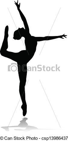 Ballet clipart lyrical dancer Of vector illustration ballet Vector