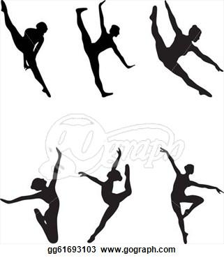 Ballet clipart lyrical dancer Silhouette Images Panda Ballet Clipart
