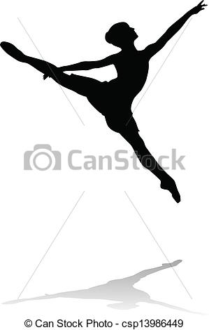 Ballet clipart lyrical dancer Vector silhouette vector ballet