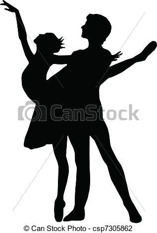 Ballet clipart male ballet dancer Of girl Illustration silhouett dance