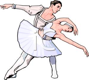Ballet clipart male ballet dancer And Dancing Male Dancing Ballerina