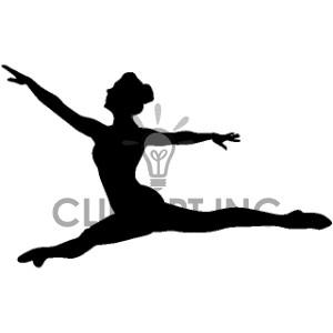 Ballet clipart modern dance Dancer4 Ballet 168815 graphics Silhouettes