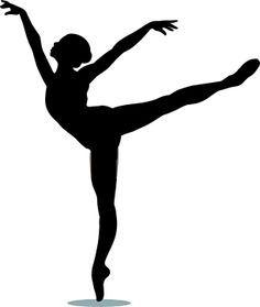 Ballet clipart modern dance Arabesque clip art vector silhouette