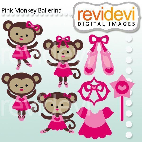 Ballerine clipart jazz shoe Monkey Pink Mygrafico revidevi_ElPinkMonkeyBallerina 4