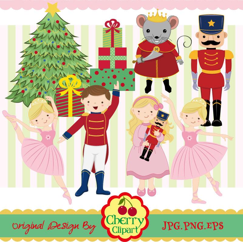 Ballet clipart nutcracker ballet Use Personal Christmas set Etsy