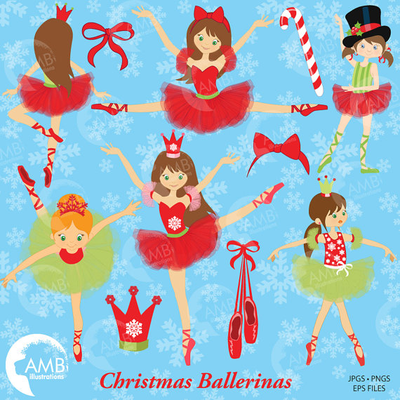 Ballet clipart nutcracker ballet Use Ballerinas Commercial clipart Christmas